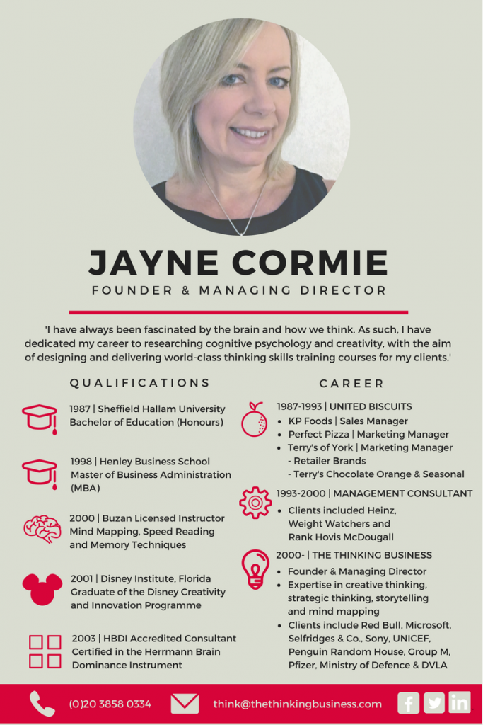 Jayne Cormie Infographic